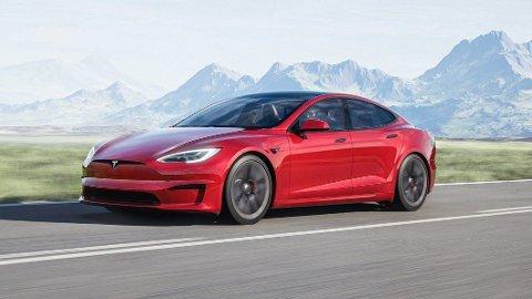 STOPPET: Tesla Model S Plaid + skulle etter planen lanseres neste år. Det blir ikke noe av, opplyser Elon Musk på Twitter