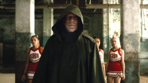 NÅ I GLASS: Bruce Willis, her fra Ubreakable i 2000 er med i samme rolle i Glass i 2018, som sikkerhetsvakten med overnaturlige evner.