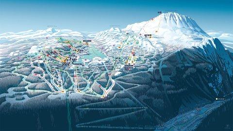 FORNØYD MED ILLUSTRASJONEN: - Som destinasjon er Gausta helt unik på grunn av Gaustatoppens høyde og den bratte dalsiden ned mot Rjukan. Det gir mange vinkler og perspektiver som må stemme, men resultatet har blitt veldig bra, mener Henrik Reint som har laget illustrasjonen.