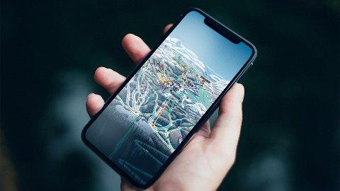 GAUSTA-APPEN: Det interaktive kartet over Gaustaområdet lanseres offisielt i begynnelsen av 2020, men nå kan du allerede ta det i bruk. GPS-funksjonen hjelper deg med å finne fram ,og gir oppdaterte forholdsrapporter og hvor du finner mat og fasiliteter.