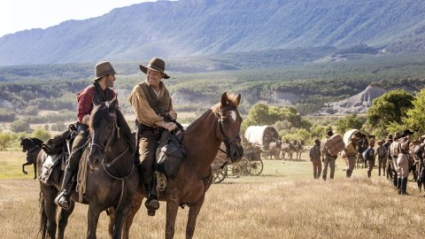 Charlie (Joaquin Phoenix) and Eli (John C. Reilly) Sisters are a brotherly pair of assassins-for-hire in Jacques Audiard's <em>The Sisters Brothers</em>.