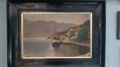 En samler opplyser at Johannes von Ditten malte dette bildet med motiv fra Tinn (foto privat)