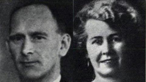 Fra krana: Tor Nicolai Abrahamsen og Jennie Karoline Abrahamsen. Begge fra Risør, og begge omkom da de allierte bombet tungtvann-anlegget på Vemork på Rjukan.Foto: Privat