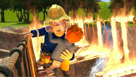 BRANNMANN SAM: Da han blir filmet mens han gjør en redningsdåd fører til interesse fra filmselskaper.