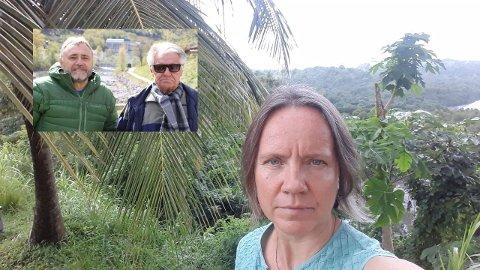 BIDRAR: Rjukan Lions Club, her her med to av styrets medlemmer Thor-Einar Holmgard og Magne Langeland har besluttet å støtte Stina Herbergs prosjekt på St. Vincent etter at hun nå må evakuere skolen hun driver der på grunn av vulkanutbrudd.