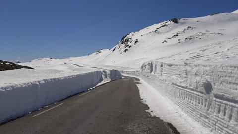 IKKE BRØYTET: Til årets påske blir ikke veien mellom Bitringsnatten og Gaustadbanen åpnet.
