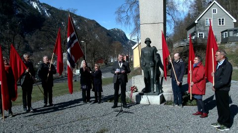 DAGENS APPELLANT: Ved støtta ved Rjukan kirke var det Trond Jore som var dagens appellant.