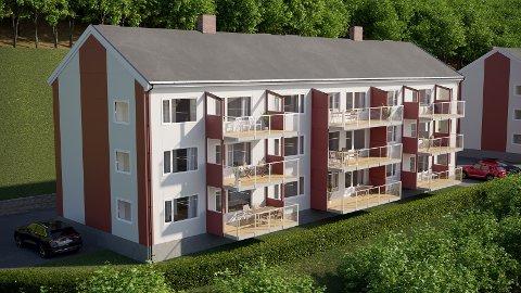 INTERESSE: Så langt har 30 personer satt seg på interesselista over de 18 leilighetene i Bjønnlandsveien, først og fremst byggetrinn en som er Bj.veien 2.