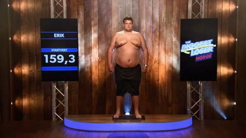 FØR: Erik veide 159,3 kilo. FOTO: TVNorge