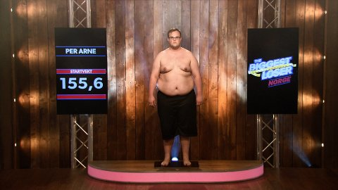 FØR: Per Arne veide 155,6 kilo. Tvnorge