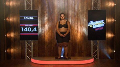 FØR: Romina veide 140,4 kilo. FOTO: Tvnorge