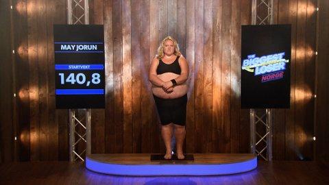 FØR: May Jorun veide 140,8 kilo. Tvnorge