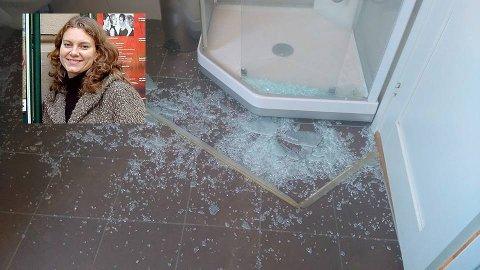 EKSPLODERTE: Rett før dusjkabinettet eksploderte sto Jorun og barna rett ved siden av og pusset tennene. FOTO: PRIVAT
