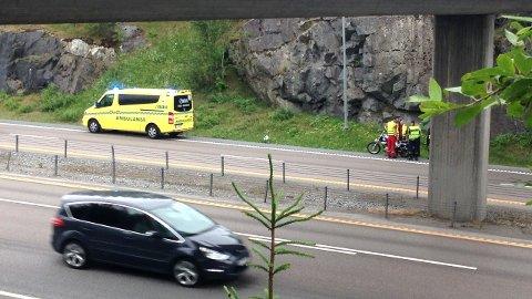 GIKK BRA: MC-føreren slapp fra sammenstøet uten skader.  FOTO: VIDAR SANDNES