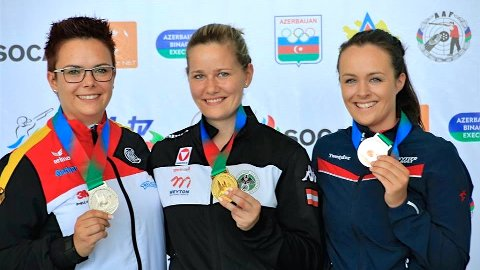 Sina Busk vant bronse under EM i skyting. Foto: Norges Skytterforbund