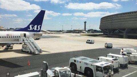 PÅ BAKKEN: Mange fly vil stå på bakken hvis det blir streik i SAS fra torsdag. Foto: Erik Johansen (NTB scanpix)
