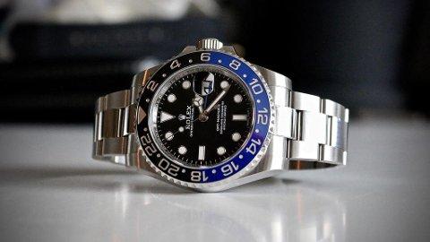 ETTERTRAKTET: Mange har lyst på en klokke som Rolex GMT Master II i «Batman»-utførelse. Men ikke hvem som helst kan kjøpe noe slikt nytt - selv om du har pengene. Foto: Kevin Collettmüller (Privat)