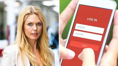ADVARER: Mange deler passord og sensitiv informasjon med partneren. Det er ikke lurt, advarer forbrukerøkonom Elin Reitan i Nordea. (Nordea)