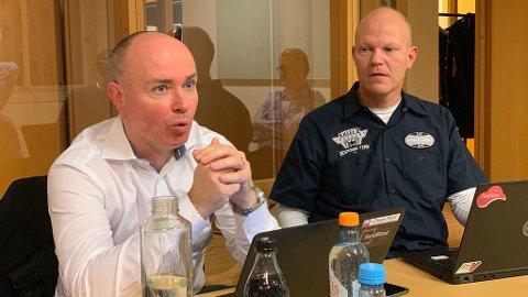 Sikkerhetsekspertene Christian Sandberg og Arnfinn Strand i sikkerhetsgiganten Check Point. Foto: Magnus Blaker
