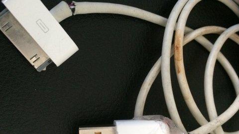 BRANNFARLIG: Denne må kastes. Årlig er batteriladere involvert i ti bygningsbranner i gjennomsnitt. Foto: Frende/ANB