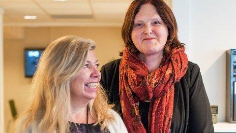SPRÅKVASK: Eva Bekkelund-Eriksen (t.h.) og Ellen Hov Aanæs vil at Nav skal snakke mer som folk flest. Foto: Eirik Dahl Viggen, Fontene.no/ANB
