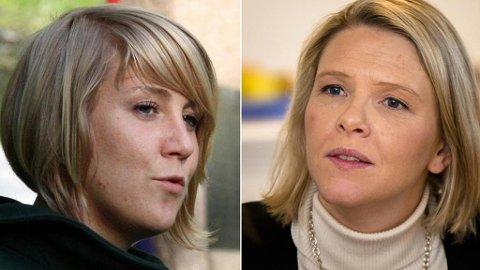 RASER: Aps Tonje Brenna mener justis- og innvandringsminister Sylvi Listhaug er spekulativ når hun terror-kritiserer Arbeiderpartiet. Foto: Scanpix/montasje