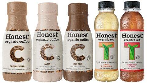 NYE PRODUKTER: Disse iskaffe- og istevariantene fra Coca-Cola vil være å se i butikkene fra starten av mai. (Coca-Cola)