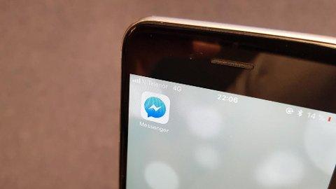 SNART KOMMER ANGREKNAPP: Facebook vil legge en ny funksjon til Messenger, som gjør at du vil kunne slette meldinger du allerede har sendt. Foto: Alexander Winger (Nettavisen)