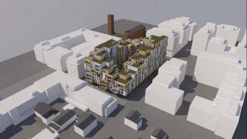 INNSIGELSE: Fylkesmannen liker dårlig at flere av de planlagte leilighetene i Fagerborgkvartalet ikke har soverom eller oppholdsrom ut mot en stille side. Skisse: Stein Halvorsen Arkitekter AS