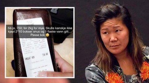 SKAPTE STORM: Ylva Thorsrud postet et det innfelte bildet på sosiale medier hvor hun fortalte historien om ekstraregningen. Da ble det høy temperatur i kommentarfeltene.