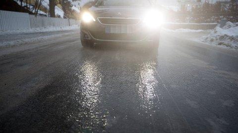 VANSKELIGE KJØREFORHOLD: Både meteorologen og trafikkoperatøren melder at det kan bli vanskelige kjøreforhold det neste døgnet.