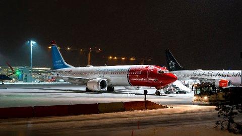 Åtte av Norwegians flygninger mandag er kansellert fra Oslo Lufthavn Illustrasjonsbilde. Foto: Cornelius Poppe (NTB scanpix)