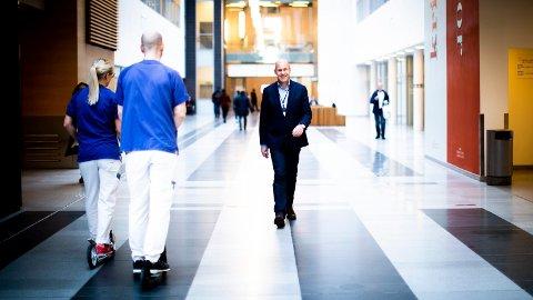 215 MILLIONER I PLUSS: Ahus-direktør Øystein Mæland er glad for det gode resultatet i 2018. – Dette gir oss mye bedre muligheter til å fornye utstyret vårt og foreta nye, tunge satsninger, sier han.