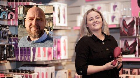SEXVANER: Kommunikasjonssjef i Kondomeriet, Marthe Sørflaten, mener kundene er mer selvsikre og vet hva de vil ha. Sexolog Thomas Winther er ikke overrasket over funnene i Kondomeriets nye rapport.