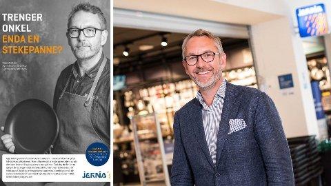 NY ANNONSE: Jernia og administrerende direktør Espen Karlsen hylles for denne annonsen som de kjører helside på i norske aviser før jul. Foto: Jernia