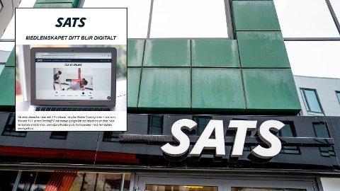 SATS: Flere SATS-medlemmer kritiserer treningssenter kjeden for å være utydelige i sin kommunikasjon rundt overgangen til digtalt medlemskap som følge av stengte treningssenter. Foto: NTB Scanpix/Skjermdump