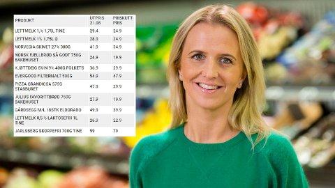 FORNØYD: Kristine Aakvaag Arvin, kommunikasjonssjef i Kiwi, er fornøyd med at de nok en gang kan kjøre i gang en stor priskampanje til fordel for deres kunder.
