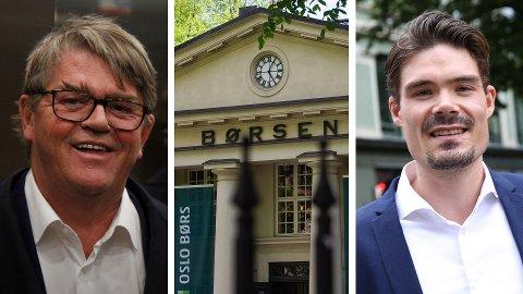 FORSIKTIG: Både Jan Petter Sissener og Mads Johannesen anbefaler å være forsiktig med aksjeinvestering i Tesla.
