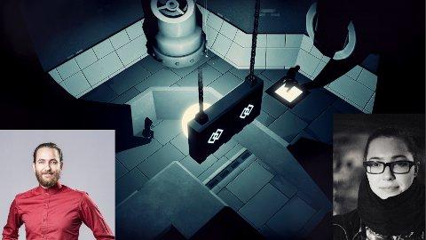 PRISVINNERE: Marcus Kjeldsen og Runa Haukland har vært med å lage Mørkredd, som vant prisen for Årets spill under den norske Spillprisen 4. mars.