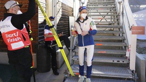 HETESJOKK: Heidi Weng tror hun aldri har opplevd et lignende løp som i Oberstdorf onsdag. Foto: Lise Åserud (NTB)