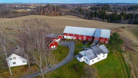 LANG HISTORIE: Dette småbruket i Holtervegen i Nannestad har hatt bosetting siden 1300-tallet. Nå skal det selges.