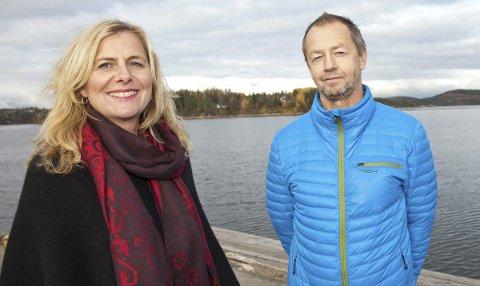 Positive: Hurum-ordfører Monica Vee Bratlie og informasjonssjef Asgeir Knudsen er glade for millionbidraget fra Transnova.Foto: Henning A. Jønholdt