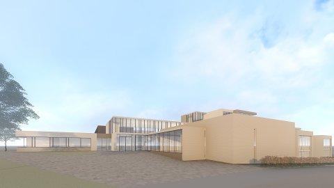 LØSNINGER: Spørsmålet er om Sætre skole bør rives og bygges opp på nytt, eller rehabiliteres noe likt dette forslaget.