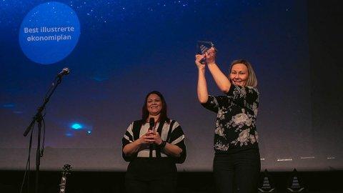 VANT: Kommunalsjef for økonomi i Hurum kommune, Inger-Lise Gjesdal, kunne hente hjem en av de fire prisene.