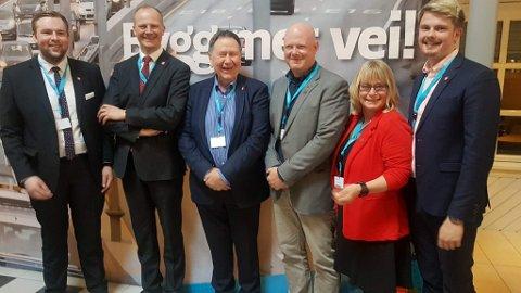 Fra venstre Christoffer Pederssen, Ketil Solvik Olsen, Arne Haga, Espen Hansen Aspås, Tone Heimdal Brataas og Rikard Knutsen.