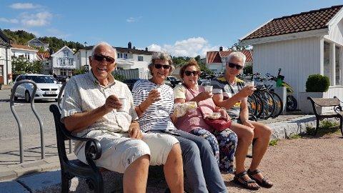 Per Natvig sammen med sine tyske venner på tur til Holmsbu.