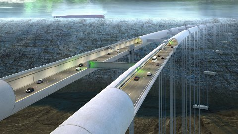 FORESLÅTT: En rørbro er foreslått lagt mellom Gullaug og Lierstranda for å spare matjorda.