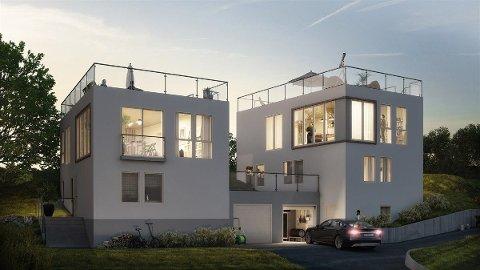 STRANDPERLE: Denne boligen kan bli din for 10,7 millioner kroner. Etter planen skal den stå ferdig i April 2021.