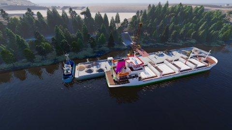 FLYTEKAI: En flytekai på nordsiden av sandtaket kan erstatte dagens utskipningsanlegg.