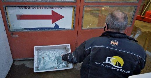 Handlet raskt: Kjell-Arne Solberg-Johansen  reagerte raskt og filmet innbruddstyven, som trolig står bak flere innbrudd i følge lensmann i Sande. Foto: Svein-Ivar Pedersen